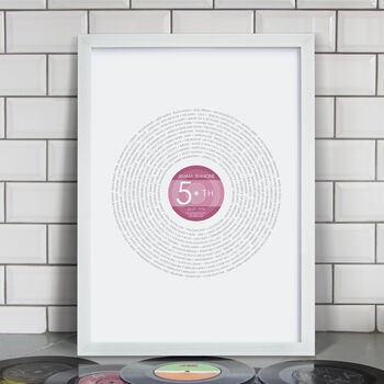 Personalised 50th Birthday 'Year 1970' Record Print