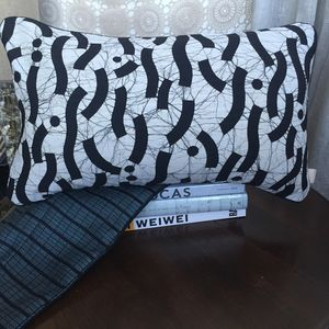 Stylish Monochrome Cushion Cover With Insert