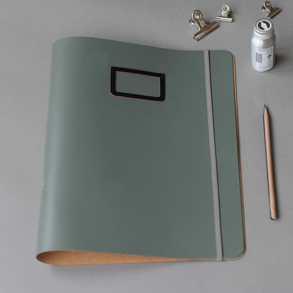 Leather A4 Ring Binder By Undercover