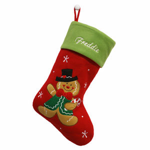 Personalised Christmas Gingerbread Man Stocking - stockings & sacks