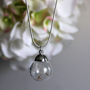 Dandelion Seed Necklace - necklaces & pendants
