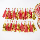 Red And Gold Foil Tassel Garland Red And Gold