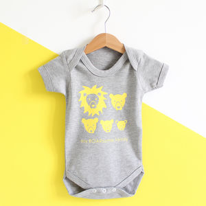 Lion Family Baby Grow