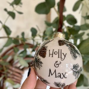 Personalised Pine Cone Bauble