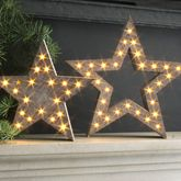 Festive LED Star Decorations - christmas decorations