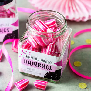 Alcoholic Raspberry Prosecco Humbugs - valentine's gifts for him
