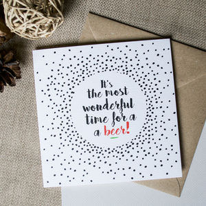 'It's The Most Wonderful Time' Christmas Card - cards & wrap
