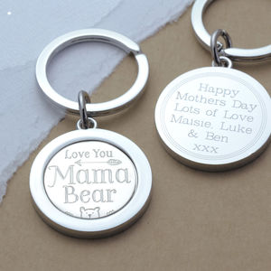 Mama Bear Keyring - womens