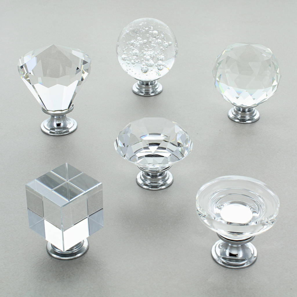 Kitchen Cabinet Glass Knobs: Crystal Cabinet Knobs Glass Kitchen Cupboard Knobs By G