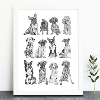 Mini Dog Collection Print