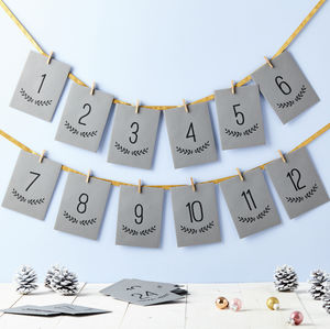 Personalised Messages Advent Calendar - garlands & bunting