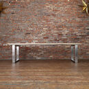 Silver Resin River Solid Wood Dining Table