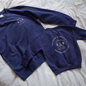 Grandad And Me Adventure Club Sweatshirt Jumper Set - gifts for grandfathers
