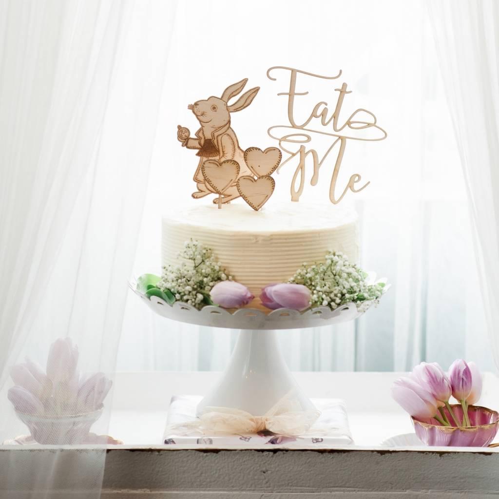 Alice In Wonderland Table Cake Topper Decoration Set