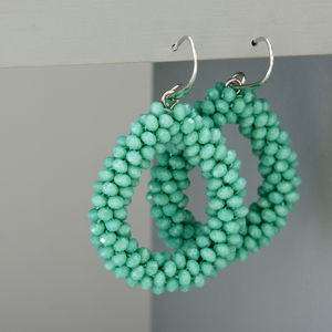 Beaded Teardrop Earrings
