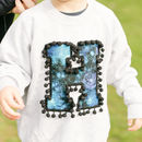 Personalised Kids Sweatshirt With Galaxy Print Letter