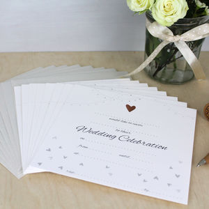 Wedding Invitation Pack Of Eight - invitations