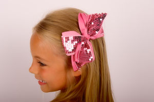 Boutique Cheer Bow Clip - hair accessories