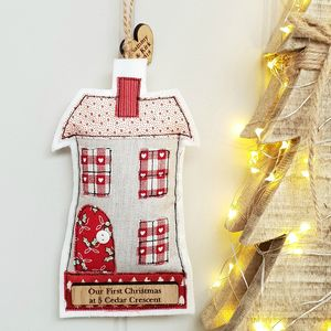 Personalised Christmas New Home Hanging Gift