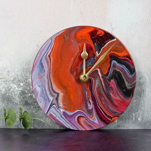 Fluid Art Clock - clocks