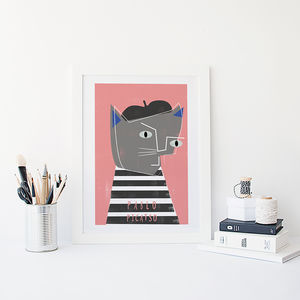 'Pablo Picatso' Cat Print - summer home