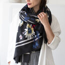 Mixed Colourful Florals Brushed Woven Scarf
