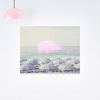 Personalised Aerial Beach Photography Print