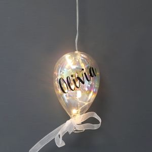 Personalised Small Iridescent Balloon LED Light - christmas sale