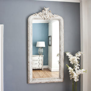 Grace Tall Crested Mirror - mirrors
