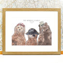 Personalised Bear Accessories Family Print