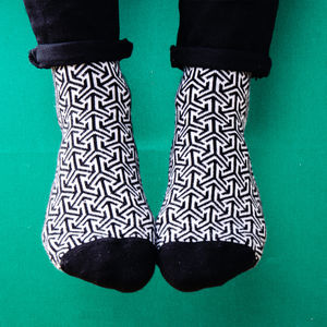 Arrow Pattern Socks - women's fashion
