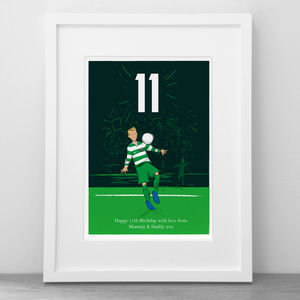 Personalised Footballer Print - baby's room