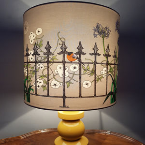 Railings Hand Illustrated Lampshade - lampshades