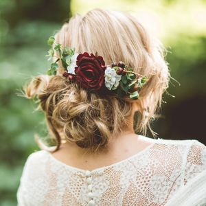 Scarlett Rose And Eucalyptus Hair Comb - your autumn wedding