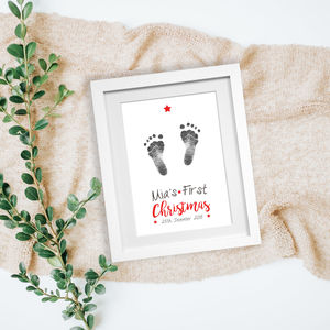 Personalised 'Baby's First Christmas' Inkless Print Kit