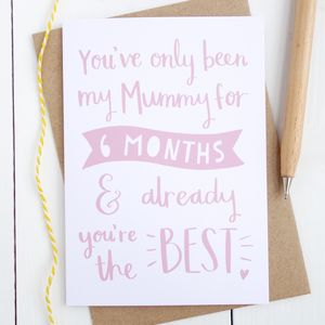 Already You're The Best Card For New Mum