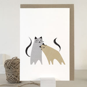 Two Cats Card And Wrapping Paper