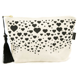 Canvas Make Up Bag - winter sale