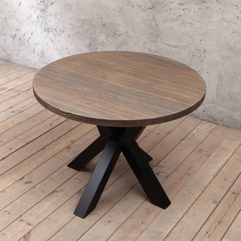 Clyde Solid Wood Round Dining Table By Cosy Wood Notonthehighstreet Com
