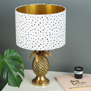 Dalmatian Spot Lampshade With Choice Of Metallic Lining - lampshades