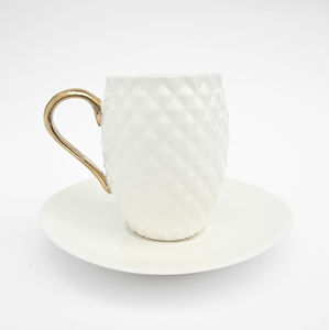 Espresso Cup With Pineapple Pattern