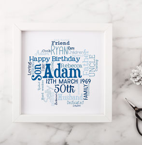 Personalised 50th Birthday Gift For Him