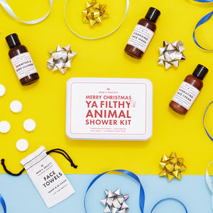 'Merry Christmas Ya Filthy Animal' Shower Kit - gift sets