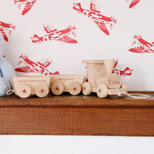 Personalised Wooden Train And Carriage - new in baby & child