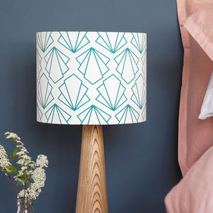 Turquoise Sunbeam Drum Lampshade