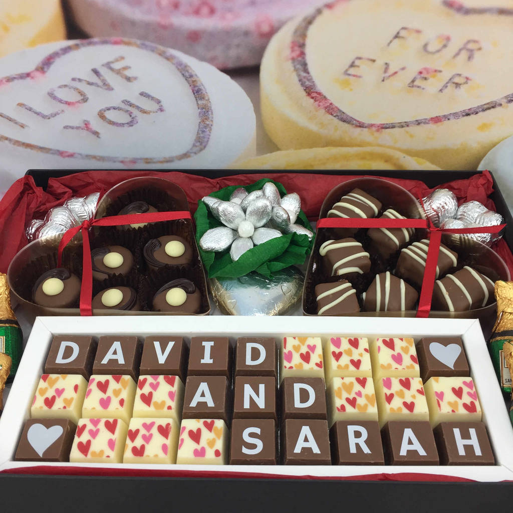 Large Personalised Chocolate Wedding Gift Box