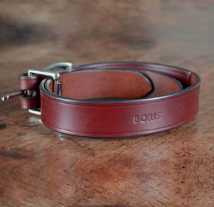 Personalised Leather Dog Collar - new in pets