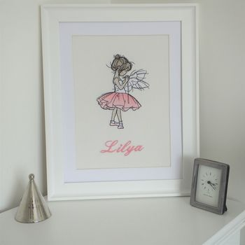 Personalised Embroidered Picture Of Ballet Dancer