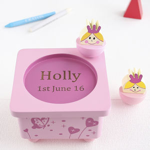 Personalised Princess Wooden Music Box - collector's toys & games
