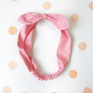 Spotty Bow Head Band - hair accessories
